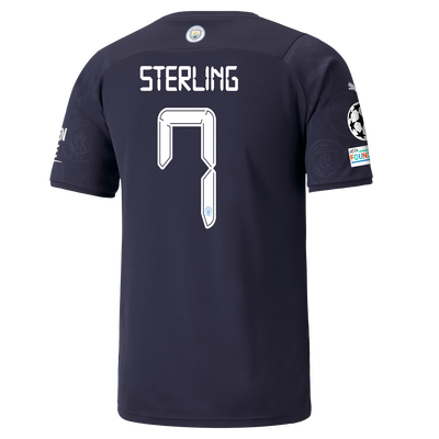 Manchester City 3rd Shirt 21/22 with Raheem Sterling printing