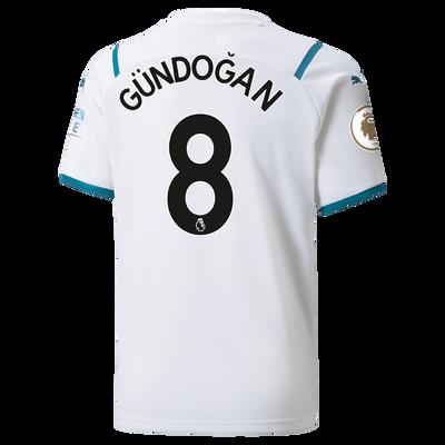 Kids Manchester City Away Shirt 21/22 with İlkay Gündoğan printing