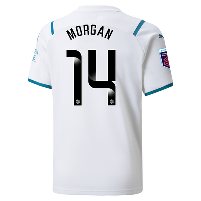 Kids Manchester City Away Shirt 21/22 with Esme Morgan printing