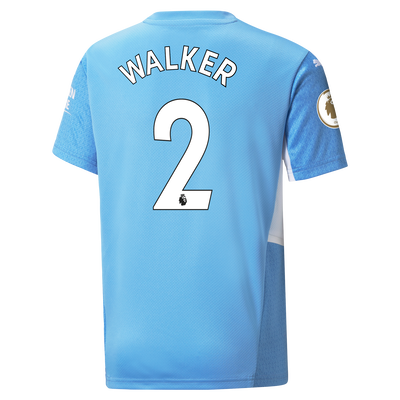 Kids Manchester City Home Shirt 21/22 with Kyle Walker printing