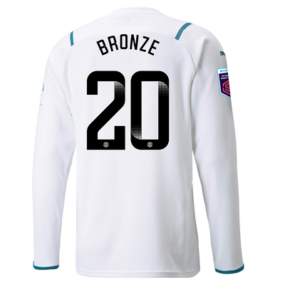 Manchester City Away Shirt Long Sleeve 21/22 with Lucy Bronze printing