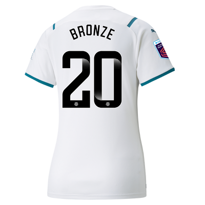 Womens Manchester City Away Shirt 21/22 with Lucy Bronze printing