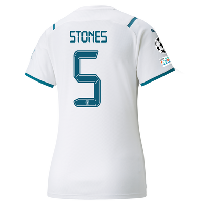 Womens Manchester City Away Shirt 21/22 with John Stones printing