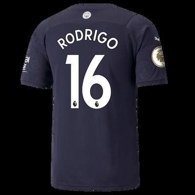 Manchester City 3rd Shirt 21/22 with Rodrigo printing