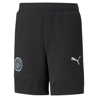 Kids Manchester City Casuals Sweat Football Shorts