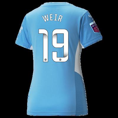 Womens Manchester City Home Shirt 21/22 with Caroline Weir printing