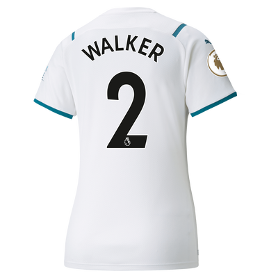Womens Manchester City Away Shirt 21/22 with Kyle Walker printing