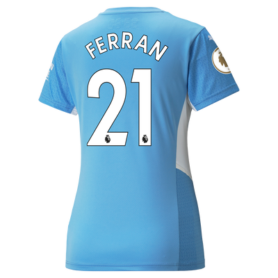 Womens Manchester City Home Shirt 21/22 with Ferran Torres printing