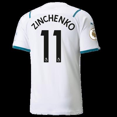 Manchester City Away Shirt 21/22 with Oleksandr Zinchenko printing