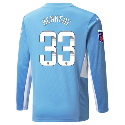 [Pre-order] Kids Manchester City Home Shirt Long Sleeve 21/22 with Alanna Kennedy printing