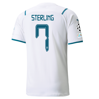 Manchester City Away Shirt 21/22 with Raheem Sterling printing