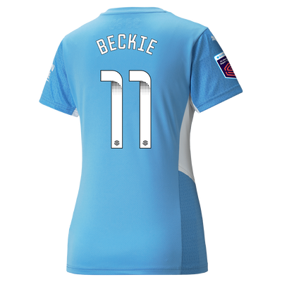 Womens Manchester City Home Shirt 21/22 with Janine Beckie printing