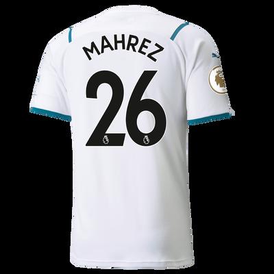 Manchester City Away Shirt 21/22 with Riyad Mahrez printing