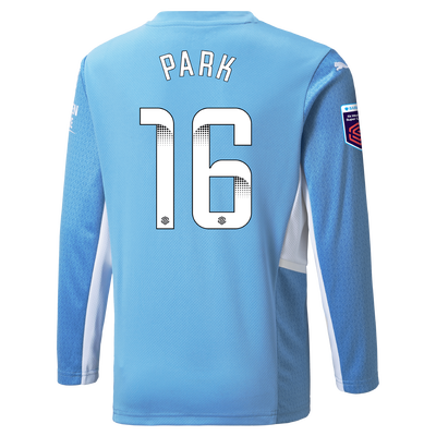 Kids Manchester City Home Shirt Long Sleeve 21/22 with Jess Park printing