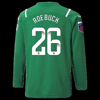 Kids Manchester City Goalkeeper Shirt 21/22 with Ellie Roebuck printing