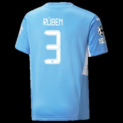 Kids Manchester City Home Shirt 21/22 with Rúben Dias printing