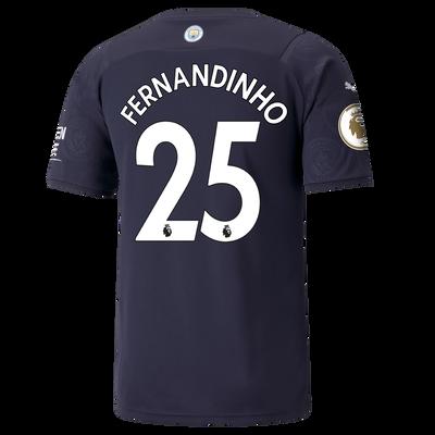 Manchester City 3rd Shirt 21/22 with Fernandinho printing