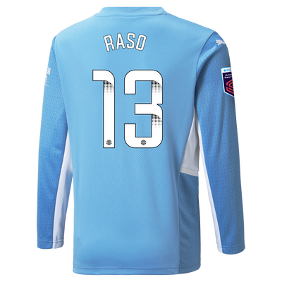 [Pre-order] Manchester City Home Shirt Long Sleeve 21/22 with Hayley Raso printing