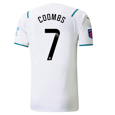 Manchester City Authentic Away Shirt 21/22 with Laura Coombs printing