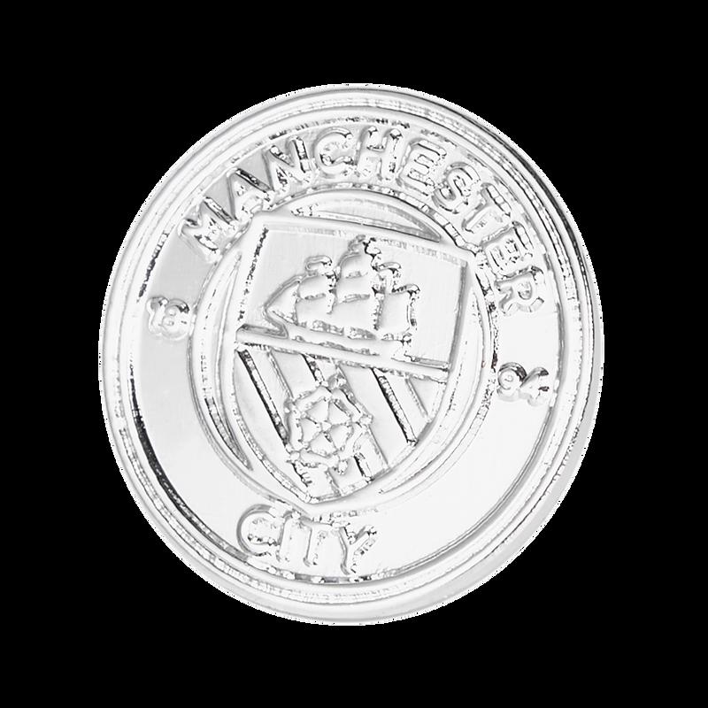 MCFC FW CREST PIN BADGE F - silver