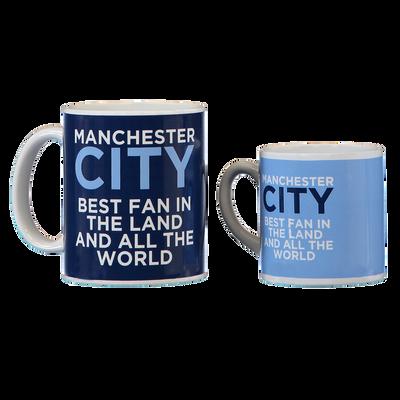 Manchester City Mini Me Mug Set