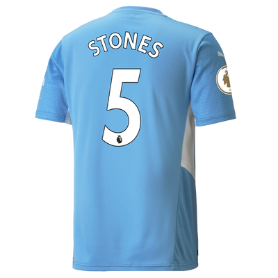 Manchester City Home Shirt 21/22 with John Stones printing