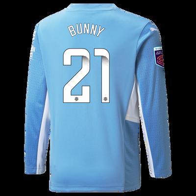 "[Pre-order] Manchester City Home Shirt Long Sleeve 21/22 with Khadija ""Bunny"" Shaw printing"