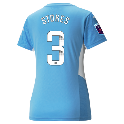 Womens Manchester City Home Shirt 21/22 with Demi Stokes printing