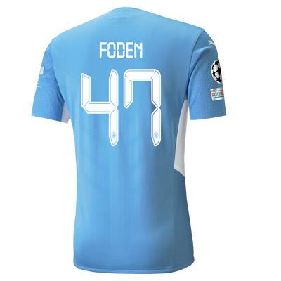 Manchester City Home Authentic Shirt 21/22 with Phil Foden printing