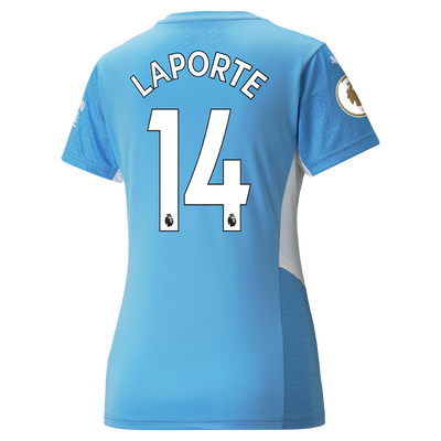 Womens Manchester City Home Shirt 21/22 with Aymeric Laporte printing