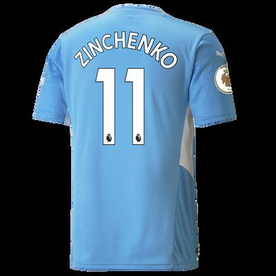Manchester City Home Shirt 21/22 with Oleksandr Zinchenko printing