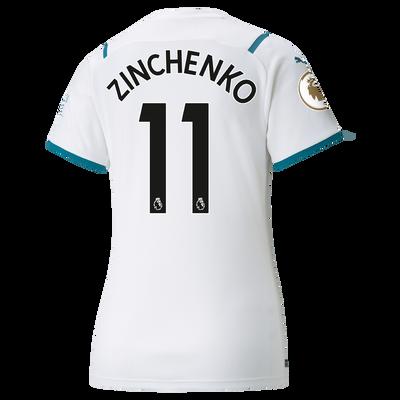 Womens Manchester City Away Shirt 21/22 with Oleksandr Zinchenko printing