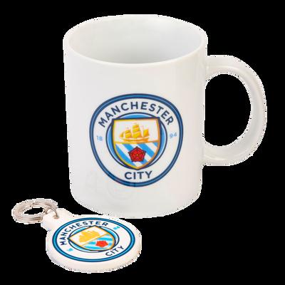 Manchester City Mug and Keyring Set