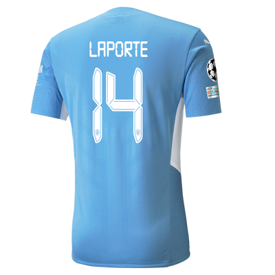 Manchester City Home Authentic Shirt 21/22 with Aymeric Laporte printing