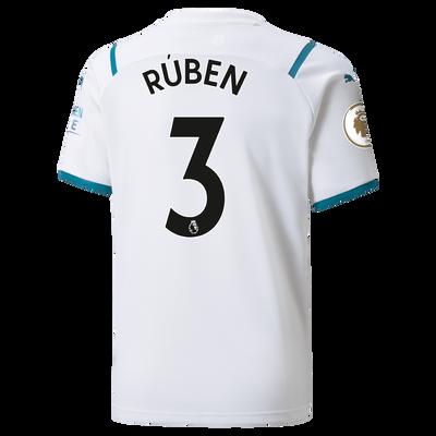 Kids Manchester City Away Shirt 21/22 with Rúben Dias printing