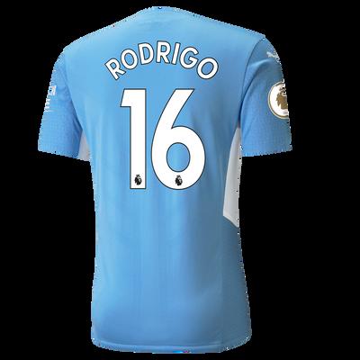 Manchester City Home Authentic Shirt 21/22 with Rodrigo printing