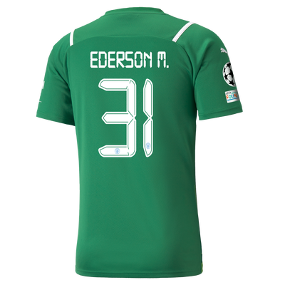 Manchester City Goalkeeper Shirt 21/22 with Ederson printing