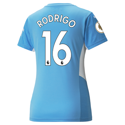 Womens Manchester City Home Shirt 21/22 with Rodrigo printing