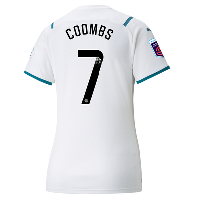 Womens Manchester City Away Shirt 21/22 with Laura Coombs printing