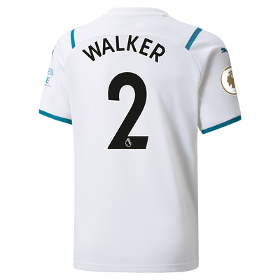 Kids Manchester City Away Shirt 21/22 with Kyle Walker printing