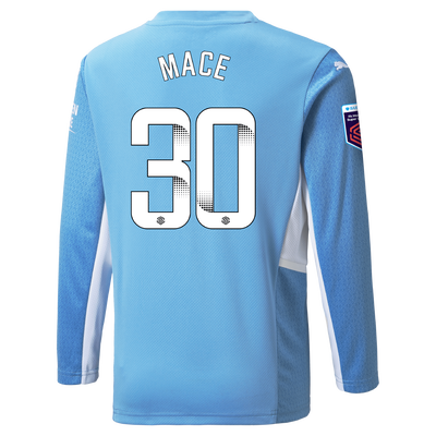 Manchester City Home Shirt Long Sleeve 21/22 with Ruby Mace printing