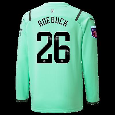 Kids Manchester City 3rd Goalkeeper Shirt 21/22 with Ellie Roebuck printing
