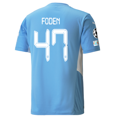 Manchester City Home Shirt 21/22 with Phil Foden printing