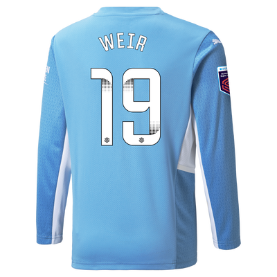 Manchester City Home Shirt Long Sleeve 21/22 with Caroline Weir printing