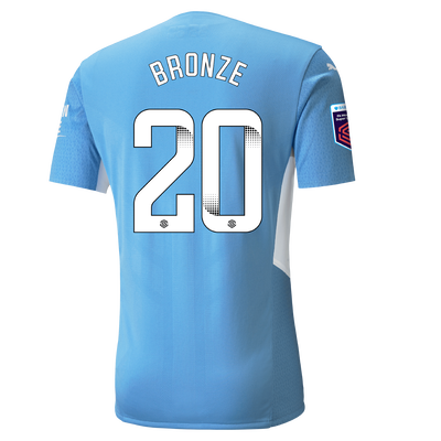 Manchester City Authentic Home Shirt 21/22 with Lucy Bronze printing