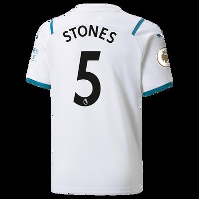 Kids Manchester City Away Shirt 21/22 with John Stones printing