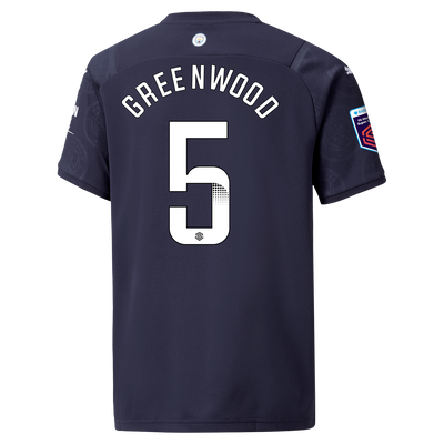 Kids Manchester City 3rd Shirt 21/22 with Alex Greenwood printing