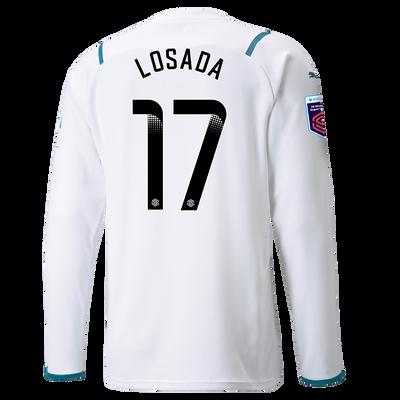 Manchester City Away Shirt Long Sleeve 21/22 with Vicky Losada printing