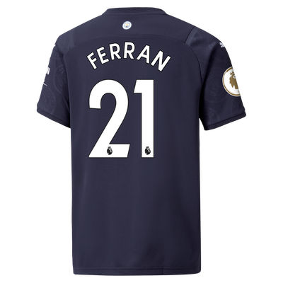 Kids Manchester City 3rd Shirt 21/22 with Ferran Torres printing
