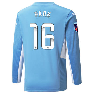 Manchester City Home Shirt Long Sleeve 21/22 with Jess Park printing